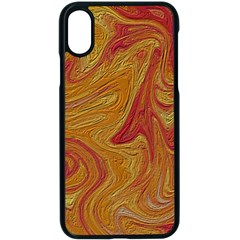 Texture Pattern Abstract Art Apple Iphone X Seamless Case (black)