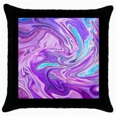 Abstract Art Texture Form Pattern Throw Pillow Case (black)