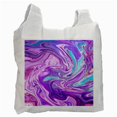 Abstract Art Texture Form Pattern Recycle Bag (one Side) by Nexatart