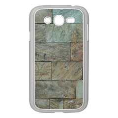 Wall Stone Granite Brick Solid Samsung Galaxy Grand Duos I9082 Case (white)