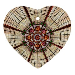 Pattern Round Abstract Geometric Ornament (heart)