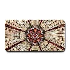 Pattern Round Abstract Geometric Medium Bar Mats