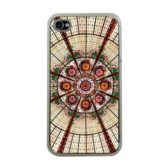 Pattern Round Abstract Geometric Apple Iphone 4 Case (clear)