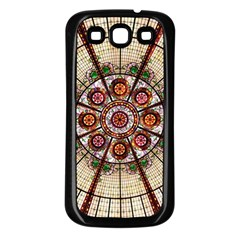 Pattern Round Abstract Geometric Samsung Galaxy S3 Back Case (black)