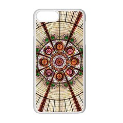 Pattern Round Abstract Geometric Apple Iphone 7 Plus Seamless Case (white)