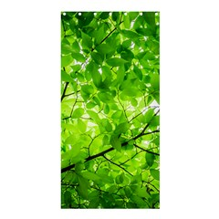 Green Wood The Leaves Twig Leaf Texture Shower Curtain 36  X 72  (stall)