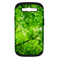 Green Wood The Leaves Twig Leaf Texture Samsung Galaxy S Iii Hardshell Case (pc+silicone)
