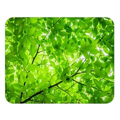 Green Wood The Leaves Twig Leaf Texture Double Sided Flano Blanket (large)  by Nexatart
