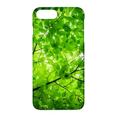 Green Wood The Leaves Twig Leaf Texture Apple Iphone 7 Plus Hardshell Case