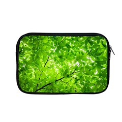 Green Wood The Leaves Twig Leaf Texture Apple Macbook Pro 13  Zipper Case by Nexatart