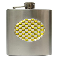 Pattern Desktop Square Wallpaper Hip Flask (6 Oz)