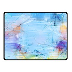 Background Art Abstract Watercolor Double Sided Fleece Blanket (small)