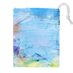 Background Art Abstract Watercolor Drawstring Pouches (xxl) by Nexatart