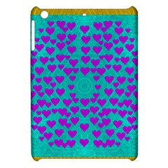 Raining Love And Hearts In The  Wonderful Sky Apple Ipad Mini Hardshell Case by pepitasart