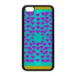 Raining Love And Hearts In The  Wonderful Sky Apple iPhone 5C Seamless Case (Black) Front