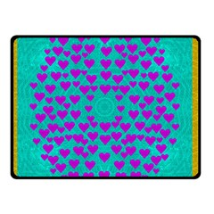 Raining Love And Hearts In The  Wonderful Sky Double Sided Fleece Blanket (small)  by pepitasart