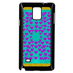 Raining Love And Hearts In The  Wonderful Sky Samsung Galaxy Note 4 Case (black) by pepitasart