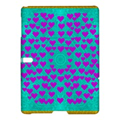 Raining Love And Hearts In The  Wonderful Sky Samsung Galaxy Tab S (10 5 ) Hardshell Case  by pepitasart