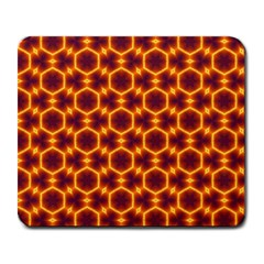 Black And Orange Diamond Pattern Large Mousepads by Fractalsandkaleidoscopes
