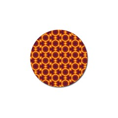Black And Orange Diamond Pattern Golf Ball Marker (4 Pack) by Fractalsandkaleidoscopes