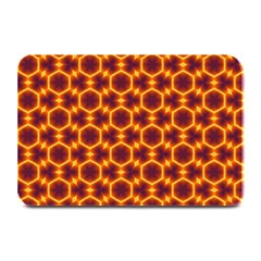 Black And Orange Diamond Pattern Plate Mats by Fractalsandkaleidoscopes