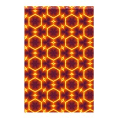 Black And Orange Diamond Pattern Shower Curtain 48  X 72  (small)  by Fractalsandkaleidoscopes