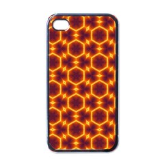 Black And Orange Diamond Pattern Apple Iphone 4 Case (black) by Fractalsandkaleidoscopes