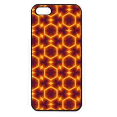 Black And Orange Diamond Pattern Apple Iphone 5 Seamless Case (black) by Fractalsandkaleidoscopes
