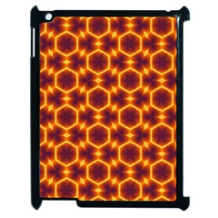 Black And Orange Diamond Pattern Apple Ipad 2 Case (black) by Fractalsandkaleidoscopes