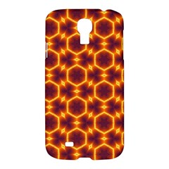 Black And Orange Diamond Pattern Samsung Galaxy S4 I9500/i9505 Hardshell Case by Fractalsandkaleidoscopes