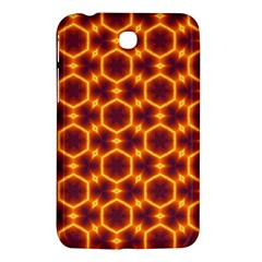Black And Orange Diamond Pattern Samsung Galaxy Tab 3 (7 ) P3200 Hardshell Case  by Fractalsandkaleidoscopes