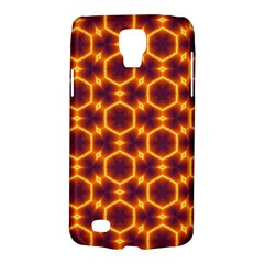 Black And Orange Diamond Pattern Galaxy S4 Active by Fractalsandkaleidoscopes