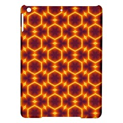 Black And Orange Diamond Pattern Ipad Air Hardshell Cases by Fractalsandkaleidoscopes