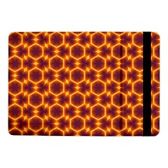 Black And Orange Diamond Pattern Samsung Galaxy Tab Pro 10 1  Flip Case by Fractalsandkaleidoscopes