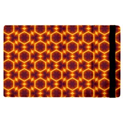 Black And Orange Diamond Pattern Apple Ipad Pro 9 7   Flip Case by Fractalsandkaleidoscopes
