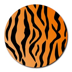 Tiger Fur 2424 100p Round Mousepads by SimplyColor