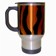 Tiger Fur 2424 100p Travel Mug (silver Gray) by SimplyColor