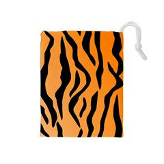 Tiger Fur 2424 100p Drawstring Pouches (medium)  by SimplyColor
