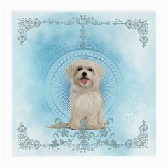 Cute Little Havanese Puppy Medium Glasses Cloth (2 Side) by FantasyWorld7