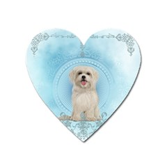 Cute Little Havanese Puppy Heart Magnet by FantasyWorld7