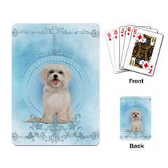 Cute Little Havanese Puppy Playing Card by FantasyWorld7