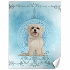 Cute Little Havanese Puppy Canvas 18  X 24   by FantasyWorld7