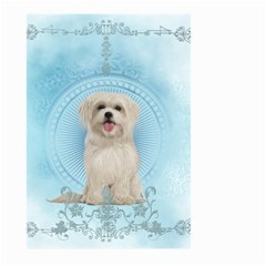 Cute Little Havanese Puppy Large Garden Flag (two Sides) by FantasyWorld7