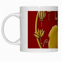 Year Of The Dog   Chinese New Year White Mugs by Valentinaart