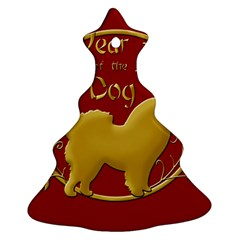 Year Of The Dog   Chinese New Year Christmas Tree Ornament (two Sides) by Valentinaart