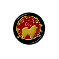 Year Of The Dog   Chinese New Year Hat Clip Ball Marker (4 Pack) by Valentinaart
