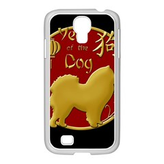 Year Of The Dog   Chinese New Year Samsung Galaxy S4 I9500/ I9505 Case (white) by Valentinaart