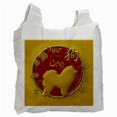 Year Of The Dog   Chinese New Year Recycle Bag (two Side)  by Valentinaart
