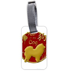 Year Of The Dog   Chinese New Year Luggage Tags (two Sides) by Valentinaart