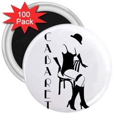 Cabaret 3  Magnets (100 Pack) by Valentinaart
